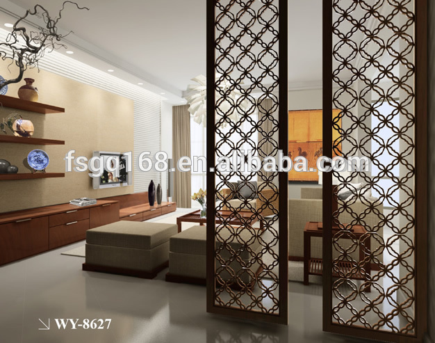 Sliding Doors Interior Room Divider With Wrought Iron