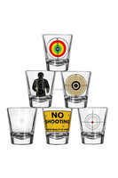 Personalized printed shot glass with customer logo printing