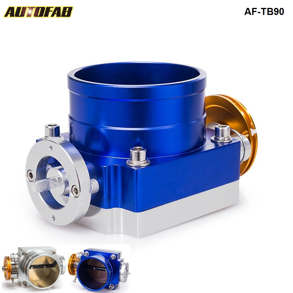 AUTOFAB -Universal Aluminum 90MM CNC Billet <strong>Intake</strong> Throttle Body Racing TK-TB90