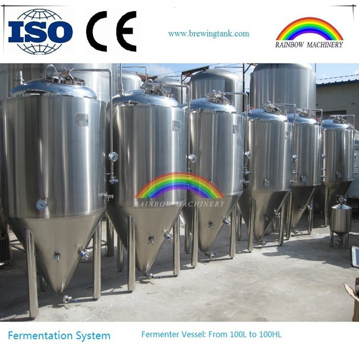 Commecial beer fermenter, 1000l beer brewery fermenting equipment