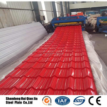 PPGI PPGL trapezoid metal roofing sheet / Iron steel tile corrugated metal plate