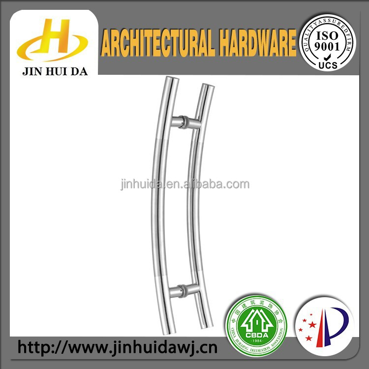 JHD-921 chrome plated arc shape H ladder door handle