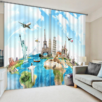 Modern style 3d window curtain with latest window designs