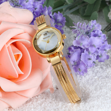 W4833 mesh woven stainless steel band women fancy watches