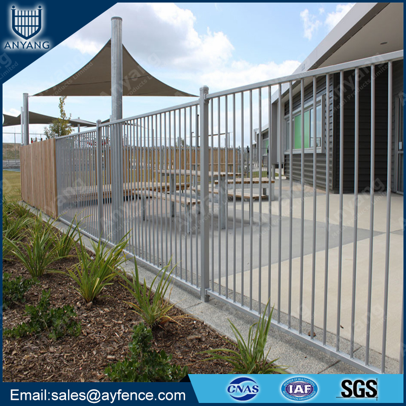 Powder Coated Decorative Flat Top Aluminium Fence Panel for Back Yard Swimming Pool Garden Boundary