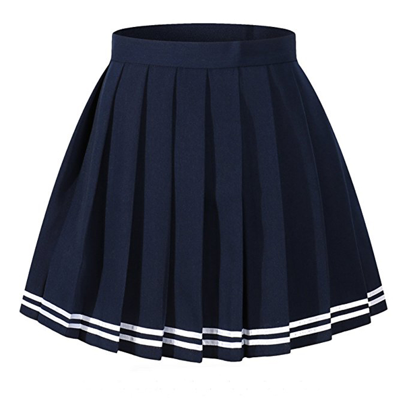 High School Uniforms Girls Pleated Skirt Short Design