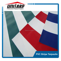hot sell PVC Striped Tarpaulin for awnings/tents/truck cover