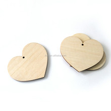 Liaocheng solistar wholesale carved wood cutout heart carving craft