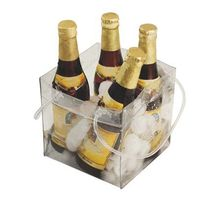 vinyl Ice cube beer packing plastic pvc grape wine chill bag for 4 and 6 bottles