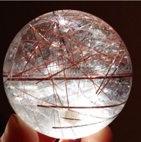 Hot sale 100%natural crystal ball/decorative crystal ball/rutilated quartz crystal ball/sphere