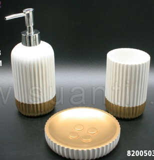 Kinglet Hot Sale Home Decor  Luxury Lotion Bottle /Toothbrush Cup Hotel Bath Sets