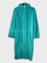 ladies brushed Cotton Flannel Nightgown with zipper, royal plush cut pattern robe/nightgown
