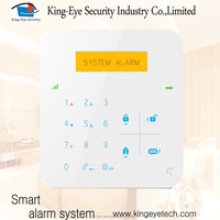 Touch panel 433/868mhz frequency gsm security alarm system with pir motion sensor/gas detector