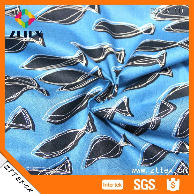 ZTTEX Shaoxing Textile cotton 40s sateen fish print cotton sateen by the yard, cotton fabric online