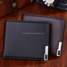 2016 latest RFID Carbon Fiber Wallet Men's Leather Wallet