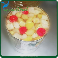 tin food supplier 115/425/820/3000g canned fruit cocktail size