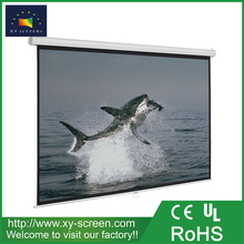 XYSCREEN 100 inch Manual Pull Down Projector Screen 4:3 Wall Mount Home Movie Cinema