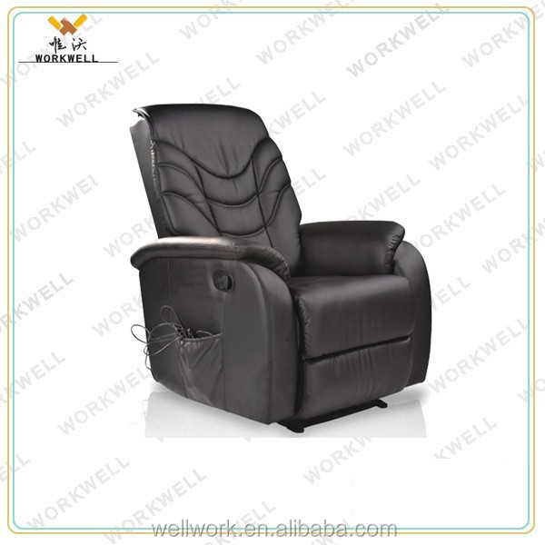 WorkWell most popular pu luxury leather recliner sofa Kw-Fu62