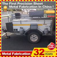 2014 good sell galvanized camping box trailer,China direct factory
