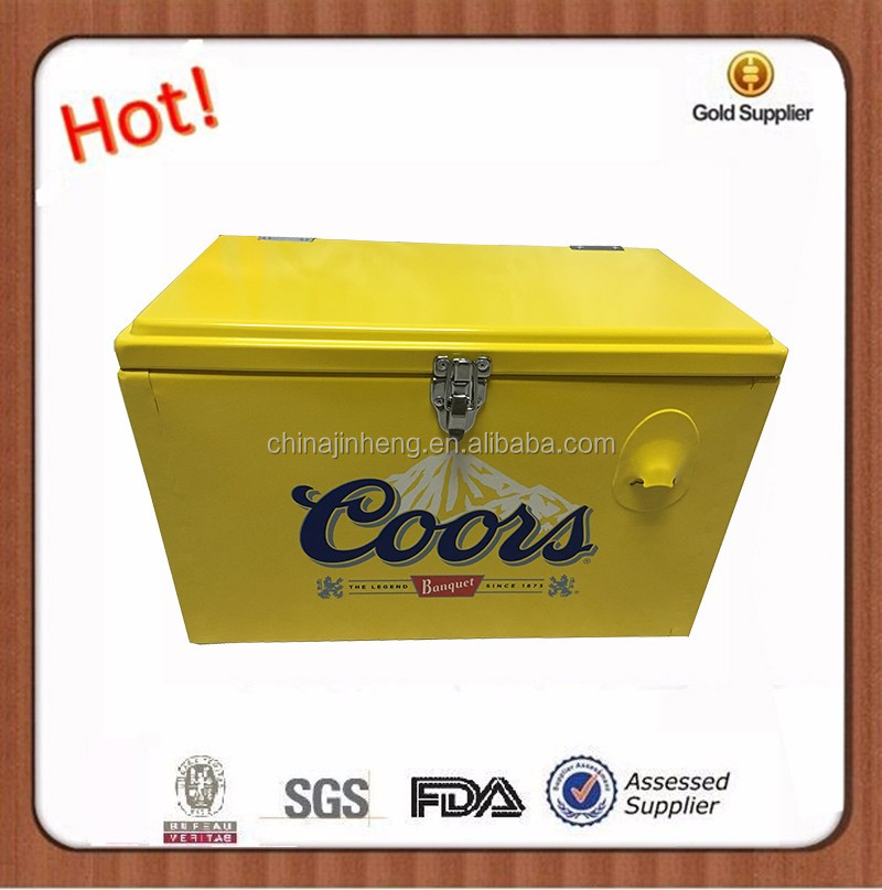 20L Metal outdoor corona vintage ice box bear chilly bin picnic cooler--logo printing available