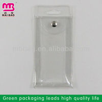 best selling nice clear pvc plastic bag with snap button