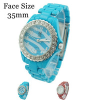 2015 China alibaba promotional water resistance Ladies Enameled Bracelet Link CZ Fashion Watch