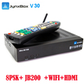 North America best selling Jynxbox V30 TV box with 1080p HD + 8psk tuner sattellite receptor