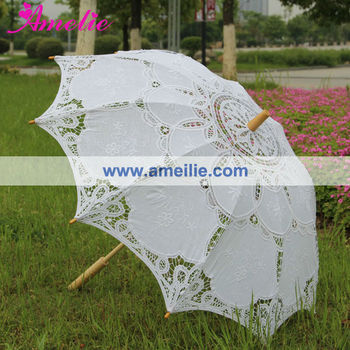 Wedding Decoration Embroidery lace parasols wholesale