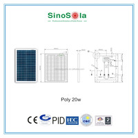 mini 20W photovoltaic module small solar panels 10w solar panel with TUV/PID/CEC/CQC/IEC/CE