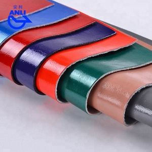 Bright colors patent PU artifical leather for shoes making manufacturer price