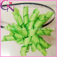 metal hair band with korker ribbon hair band hair accessories (CNHB-0108)