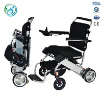 Small light weight portable folding electric wheel chair for handicapped