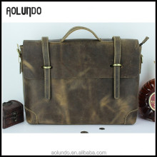 Imported new trend high-end wholesale real leather briefcase tool bag