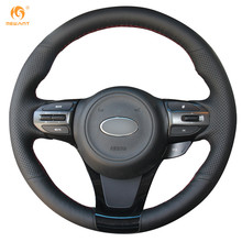 Best Factory Price Hand-Crafted Black Leather Steering Wheel Cover for Kia K5 Optima 2014 2015