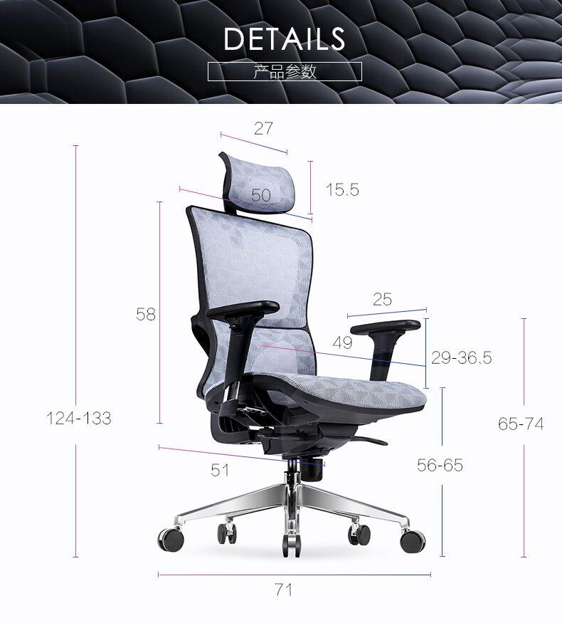Büromöbel stühle holz unterstützung High back egonomic ...
