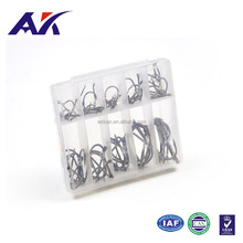china alibaba wholesale supplier Stainless steel black 60pcs in 1 made in china hot-selling product fishing hook set