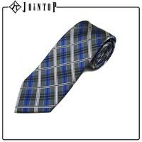 Manufacture high quality plaid silk neck tie