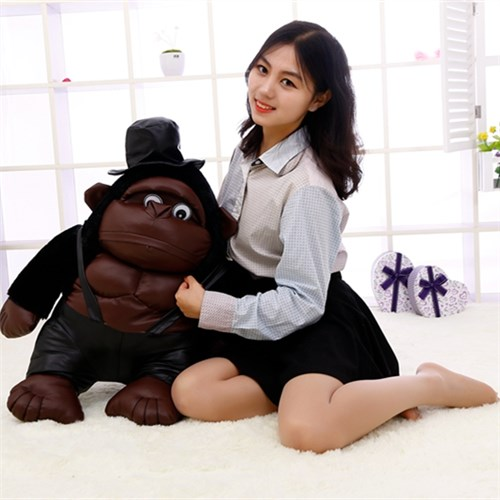 chiffon animal fabrication plush muscle Chimpanzee with hat precision household manufacturer