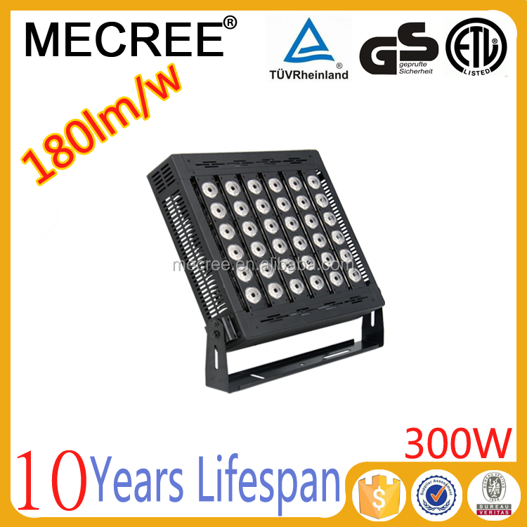 alibaba email address high power 300w outdoor led light with CE TUV ETL certificates
