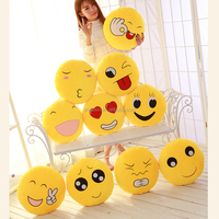 Factory Sale Plush Cushion Emoji Decorative