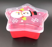 christmas plastic food star container for candy