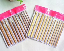 9PCS 10PCS Bamboo Crochet Hook Needles Knitting Needles Set