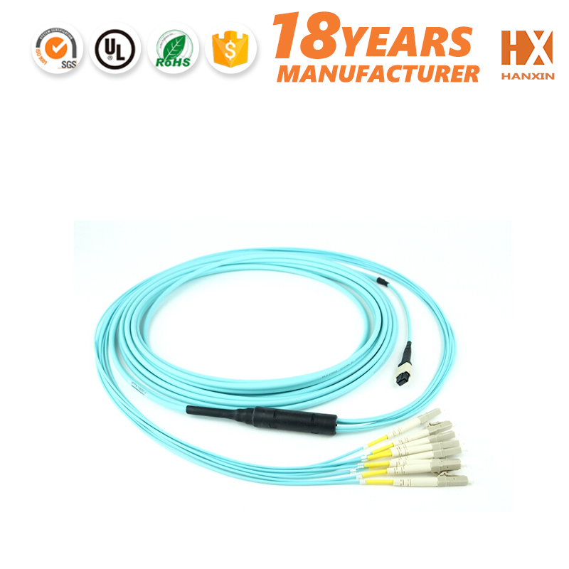 OM3 Fiber Optic Patch Cord Cable, MTP male MPO female Style, 12 Strand
