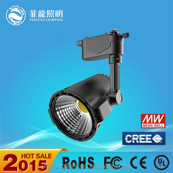 Manufacture price Cree bridgelux chips spot 30w cob led track light