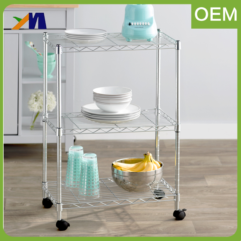 Light-Duty Commercial Metal Wire Plate Rack Kitchen Stainless Steel Dish Shelving Rack.