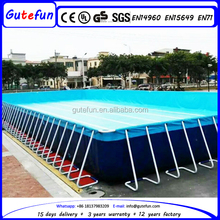 commercial grade above ground galvanized steel adult plastic swimming pool