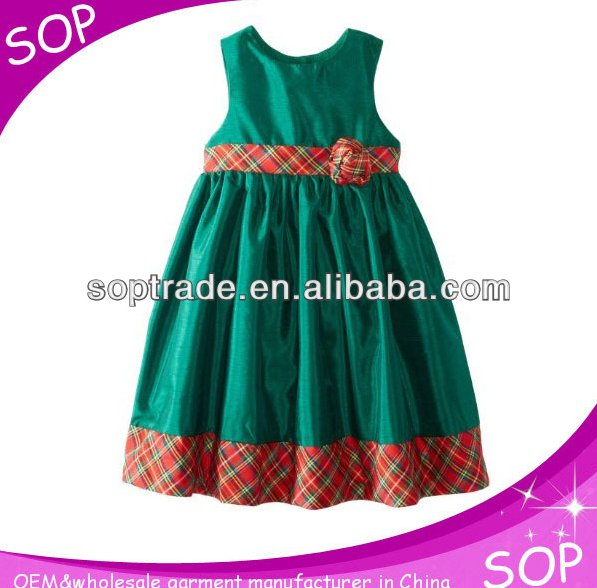 New unique sleeveless children cotton frock design for baby girl china supplier