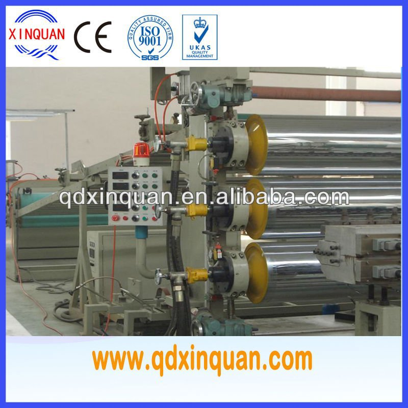 PE, PP, PS, ABS, PMMA,PC plate extrusion line