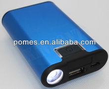 New Design Portable Mobile wireless power bank with led flashlight 2600 mah