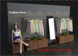 Custom made cloth shop furniture, shop counter design store counter for sale